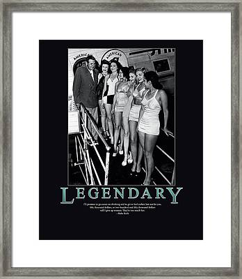 Legendary Babe Ruth Framed Print