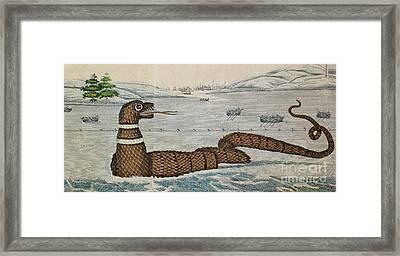 Legendary Gloucester Sea Serpent, 1817 Framed Print by Photo Researchers
