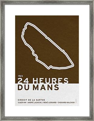 Legendary Races - 1923 24 Heures Du Mans Framed Print by Chungkong Art
