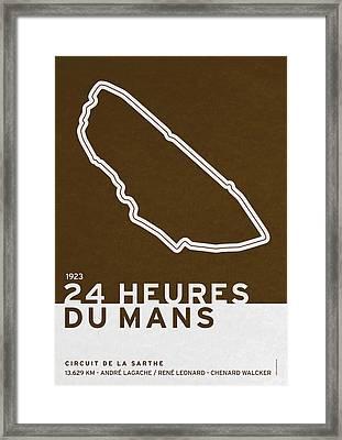 Legendary Races - 1923 24 Heures Du Mans Framed Print