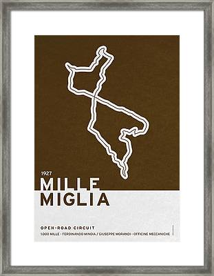 Legendary Races - 1927 Mille Miglia Framed Print by Chungkong Art