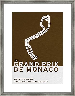 Legendary Races - 1929 Grand Prix De Monaco Framed Print