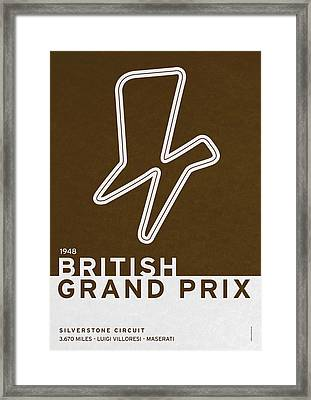 Legendary Races - 1948 British Grand Prix Framed Print by Chungkong Art