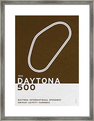 Legendary Races - 1959 Daytona 500 Framed Print by Chungkong Art