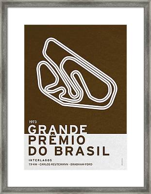 Legendary Races - 1973 Grande Premio Do Brasil Framed Print by Chungkong Art