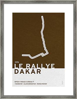 Legendary Races - 1978 Le Rallye Dakar Framed Print by Chungkong Art