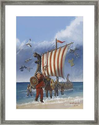 Framed Print featuring the painting Legendary Viking by Rob Corsetti