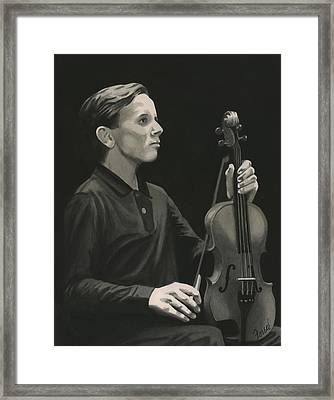 Framed Print featuring the painting Legendary Violinist by Ferrel Cordle