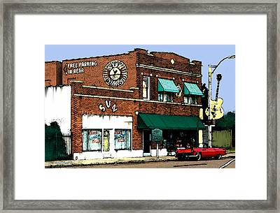 Legendary Sun Studio Records Framed Print by Iconic Images Art Gallery David Pucciarelli