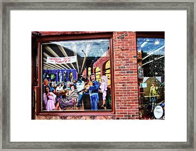 Legends Bar In Downtown Nashville Framed Print by Dan Sproul