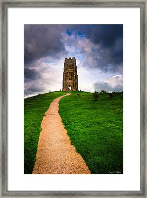 Legends Of Glastonbury Tor - Avalon Framed Print by Mark E Tisdale