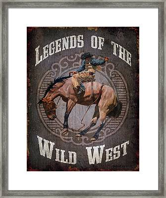 Legends Of The Wild West Framed Print by Michelle Grant