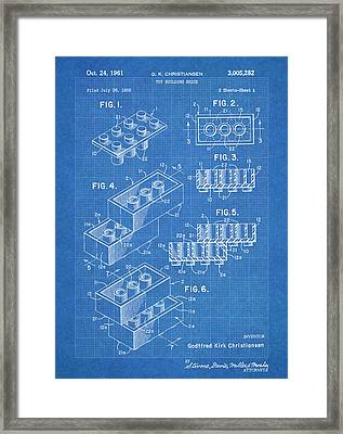 Lego Blocks Blueprint Framed Print by Stephen Chambers