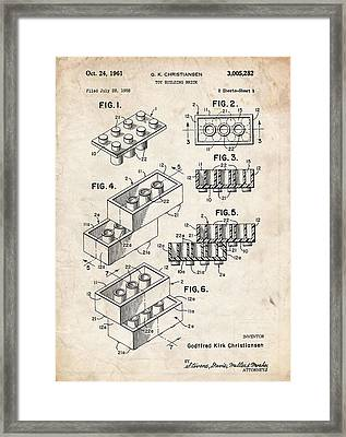 Lego Blocks Framed Print by Stephen Chambers