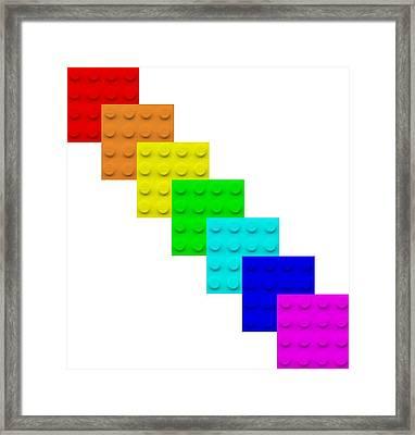 Lego Box White Framed Print