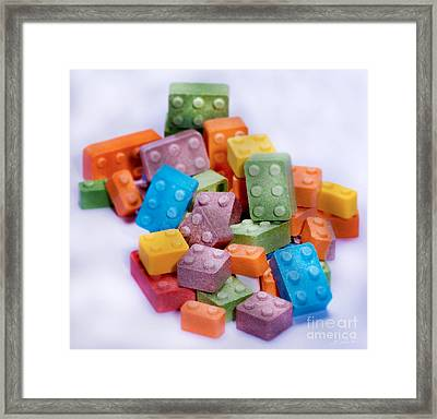 Lego Candy Blocks Framed Print