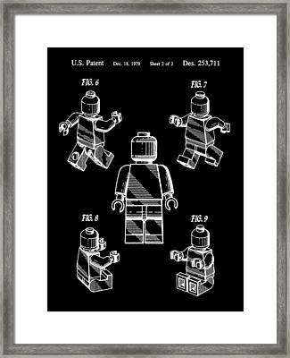 Lego Figure Patent 1979 - Black Framed Print