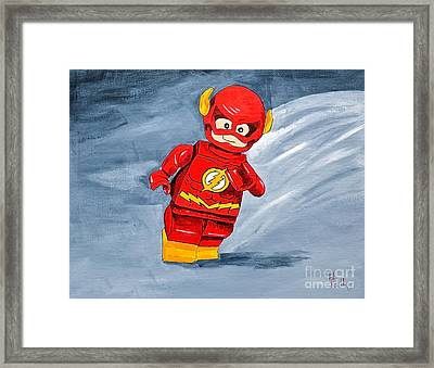 Lego Flash Framed Print by Herschel Fall