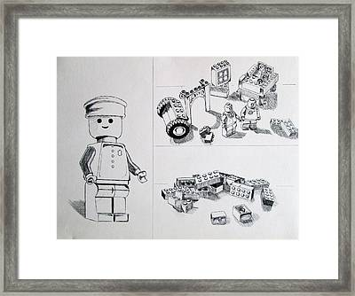Lego Life Framed Print by Caitlin Mitchell
