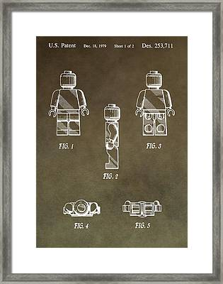Lego Man Patent Framed Print by Dan Sproul