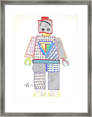 Lego Man Framed Print by Troy Thomas