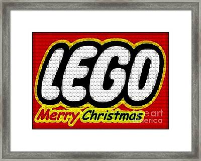 Lego Merry Christmas  Framed Print by Scott Allison