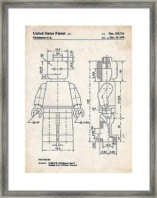 Lego Minifigure Patent Art Framed Print