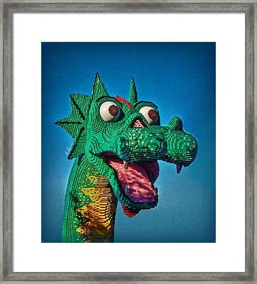 Lego Nessie Framed Print by Hanny Heim