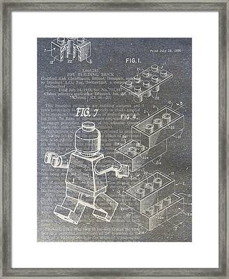 Lego Patent Framed Print by Nick Pappas