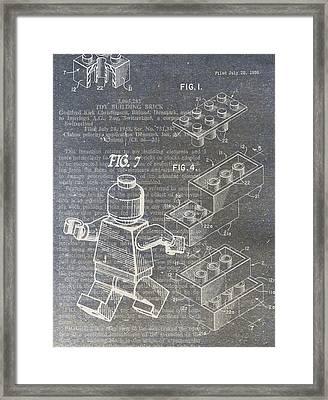 Lego Patent Framed Print