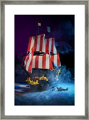 Lego Pirate Ship Framed Print by Samuel Whitton
