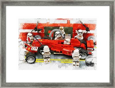 Lego Pit Stop Framed Print
