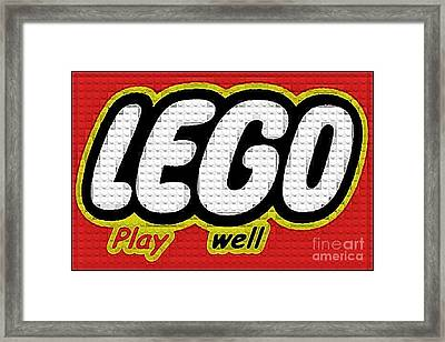 Lego Play Well Framed Print by Scott Allison