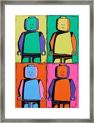 Lego Pop Art Man Framed Print by Kaz Innes