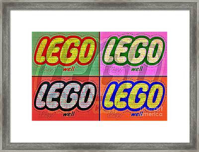 Lego Pop Art Framed Print by Scott Allison