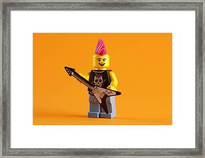 Lego Punk Rocker Framed Print by Samuel Whitton