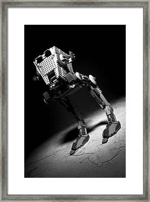 Lego Star Wars At-st Framed Print by Samuel Whitton