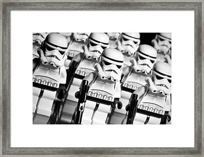 Lego Storm Trooper Army Framed Print by Samuel Whitton