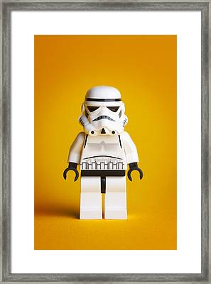 Lego Storm Trooper Framed Print by Samuel Whitton