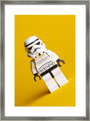 Lego Stormtrooper Framed Print by Samuel Whitton