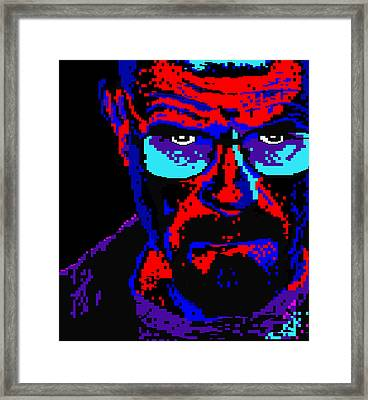 Framed Print featuring the digital art Lego Walter White by Marc Orphanos