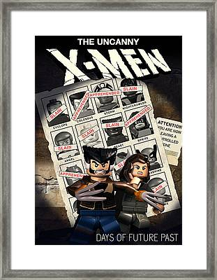 Lego X-men Days Of Future Past Framed Print