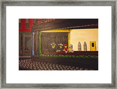 Legohawks Framed Print by Patrick Webb