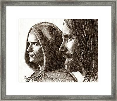 Legolas And Aragorn Framed Print by Maren Jeskanen