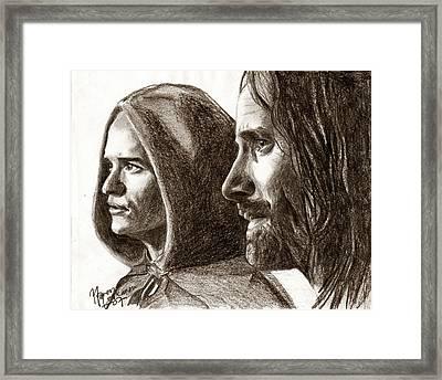 Legolas And Aragorn Framed Print