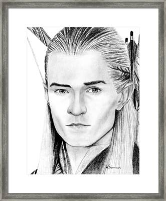Legolas Greenleaf Framed Print by Kayleigh Semeniuk