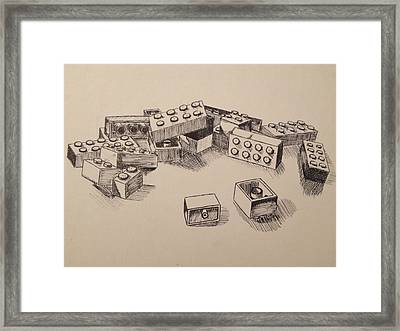 Legos Framed Print by Caitlin Mitchell
