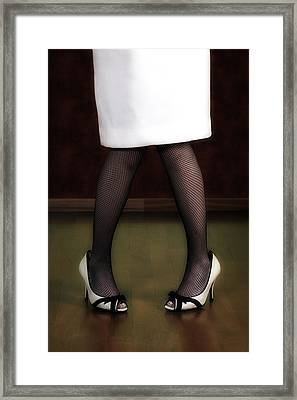 Legs And Shoes Framed Print