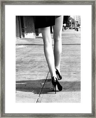 Framed Print featuring the photograph Legs New York by Rebecca Harman