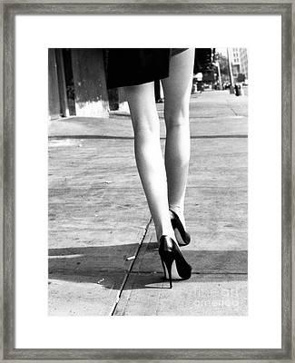 Legs New York Framed Print